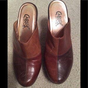 Carlos Santana brown shades of mules/clogs